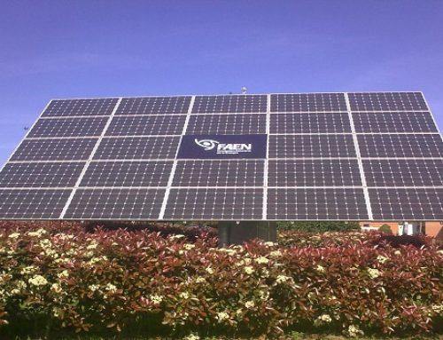 Disponibles los datos de 2017 de la instalación solar fotovoltaica de FAEN