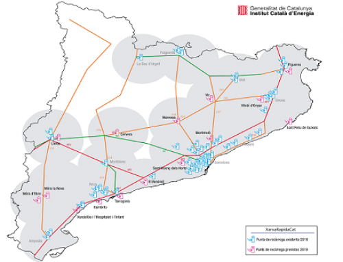 Cataluña suma 22 nuevas estaciones a su red pública de recarga rápida para vehículos eléctricos