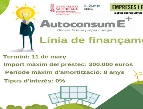 El Ivace inicia el Plan AutoconsumE+ 2019 para impulsar las instalaciones de autoconsumo