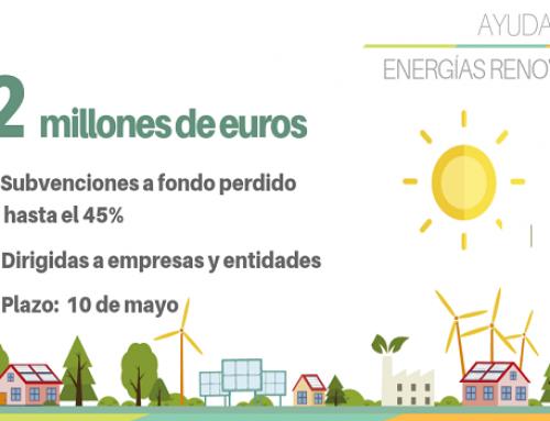 El IVACE destinará 2 millones € para el impulso de las renovables en empresas y entidades