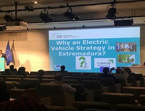AGENEX presenta la Estrategia de Extremadura para el impulso del Vehículo Eléctrico en la Semana Europea de las Regiones