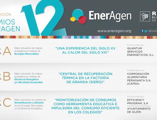 EnerAgen premia las mejores actuaciones nacionales de este año en materia de energías renovables, eficiencia energética y sensibilización
