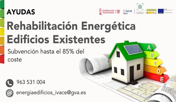 El Ivace concede ayudas para la rehabilitación energética de edificios de hasta el 85% del coste
