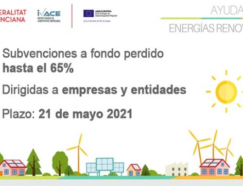 Ivace Energía apoyará hasta en un 65% del coste los proyectos de renovables de empresas y entidades