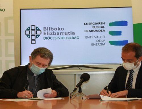 El Ente Vasco de la Energía y el Obispado de Bilbao firman un convenio de colaboración
