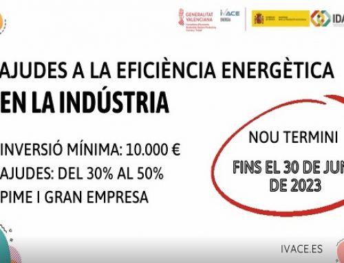 El Ivace amplía el plazo para las ayudas a la eficiencia energética en las industrias